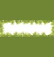 wide christmas frame banner background vector image vector image