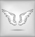 wing grey vector image vector image