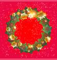 winter festive wreath vector image vector image