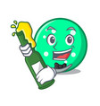 with beer circle mascot cartoon style vector image
