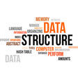 word cloud data structure vector image vector image