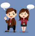 Business Men and Girl vector image