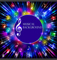 abstract musical background with bright light vector image vector image