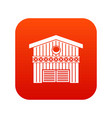 barn for animals icon digital red vector image vector image