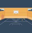 basketball court cartoon 3d empty stadium gym