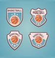 basketball sport team colored emblems vector image