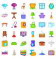 bathroom icons set cartoon style vector image vector image