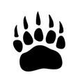 bear paw print icon isolated on white background