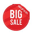 big sale save up to 70 red circle frame im vector image vector image
