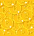 bitcoin shining seamless pattern vector image vector image