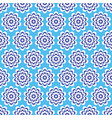 blue flowers with a beautiful patterned petals vector image vector image