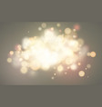 bright bokeh effect festive magic luminous vector image vector image