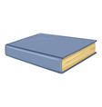 cartoon - closed book with blue hardcover vector image vector image