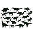 cartoon dinosaurs jurassic extinct dino raptors vector image