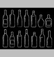 Chalk bottle icons set