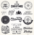 Christmas Greeting Card Badges and Labels vector image