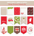 christmas retro set - tags cards banners labels vector image vector image