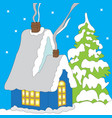 color image of santa claus house vector image