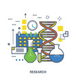 concept of research color line icons vector image