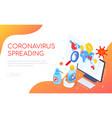 coronavirus spreading in world - isometric web vector image