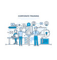 corporate training education learning vector image