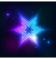 Cosmic shining abstract star vector image vector image