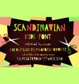 cutout paper font vector image vector image
