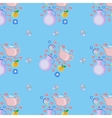 dishes seamless pattern vector image vector image