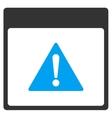 Error Calendar Page Toolbar Icon vector image vector image