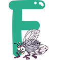 F for fly vector image