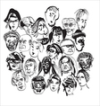 faces in a crowd vector image vector image