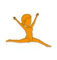 Female gymnast or dancer athlete sport avatar icon vector image