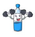 fitness water bottle character cartoon vector image