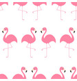 flamingo seamless pattern exotic tropical bird vector image vector image