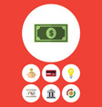 flat icon finance set of bank diagram vector image