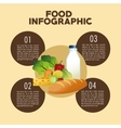 Food design Infographic icon Colorful vector image vector image