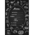 Food Menu on Chalkboard vector image vector image