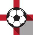 football icon with England flag vector image vector image