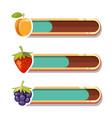 game interface bars cartoon gaming loading panel vector image vector image