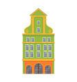 green european style classic building facade vector image