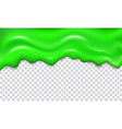 green seamless dripping slime vector image vector image