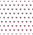 hearts seamless pattern cute doodle hearts vector image vector image
