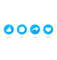 icon like share comment and thumb button vector image