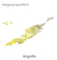 isolated icon anguilla map polygonal geometric vector image vector image