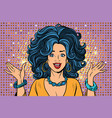joyful spectacular glamour girl vector image