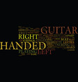 learn how to play a left handed guitar text vector image vector image