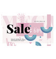 Mega sale banner in contemporary style