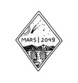 mission of mars logo exploration of the vector image vector image