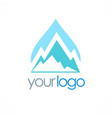 mountain water logo vector image vector image