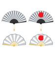 oriental style fan vector image